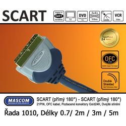 Scart 180° - Scart 180° (přímý) 3m