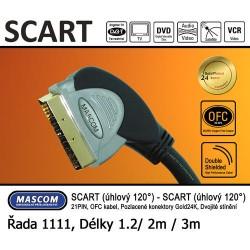 Scart 120° - Scart 120° (úhlový) 3m