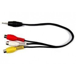 JACK - 3AV CINCH kabel (0,2m)