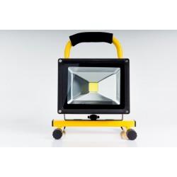 Světlomet 20 Watt LED BATERIE na malé trojnožce (aku)